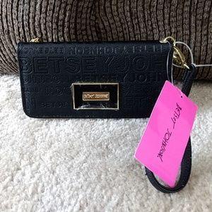 Betsey Johnson black wallet